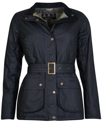 £95 • Buy Barbour Womens Montgomery Wax Jacket Size 18 Black - BNWT And Bagged
