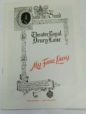 £9.95 • Buy My Fair Lady Theatre Programme Theatre Royal Anne Rogers And Charles Stapley B35