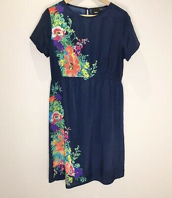 AU18 • Buy ASOS Maternity Size 14 Blue And Floral Dress