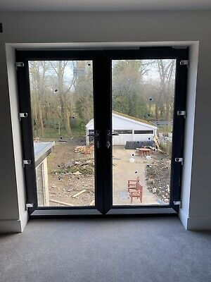 £560 • Buy New Anthracite (ral 7016) Grey Upvc French Patio Doors