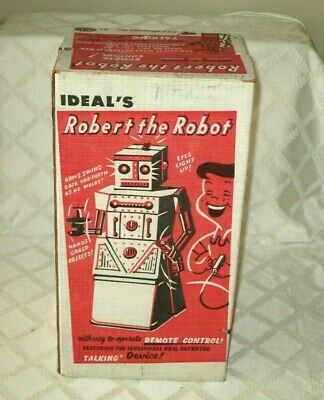 £7.07 • Buy Vintage Ideal -robert The Robot Battery Operated Box Only- 16 -space Toy