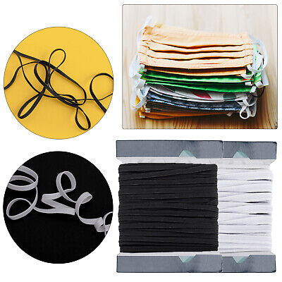 $ CDN27.03 • Buy 5mm FLAT ELASTIC CORD WOVEN SEWING TRIMMING ARTS AND CRAFT TROUSER WAIST SUPPORT