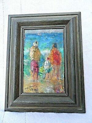 £95 • Buy FRAMED SIGNED & DATED VINTAGE  OIL ON BOARD OIL PAINTING St IVES BY THE SEA VGC
