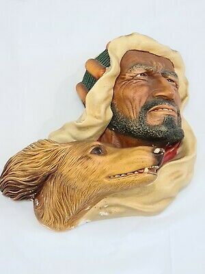 £10 • Buy Vintage Large Bossons Chalk Head Face Bust Desert Hunters Turban Dog Hound