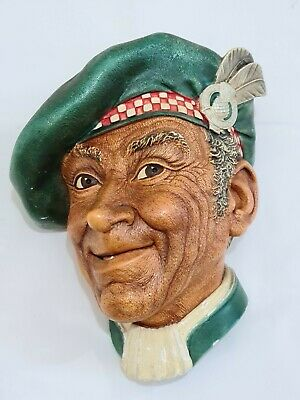 £16.50 • Buy Rare Bossons Chalkware Head Jock 1962 Face Bust Checked Red White Cap
