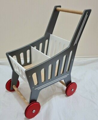 £20 • Buy Great Little Trading Company Co GLTC Grey RED Push Along Trolley Wooden Toy