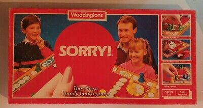£19.99 • Buy Vintage Retro 1985 Waddingtons Sorry! Classic Family Board Game Complete
