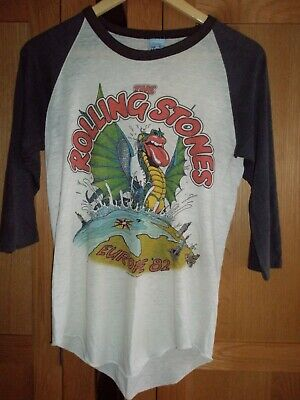 £550 • Buy Rolling Stones Vintage Concert Europe 82 Tour Baseball Shirt EXTREMELY RARE