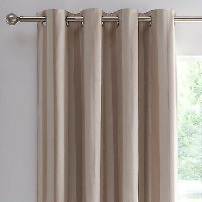 £54.99 • Buy Allana Natural Stripe Lined Eyelet Curtains Dunelm Mill 168x228cm 66x90