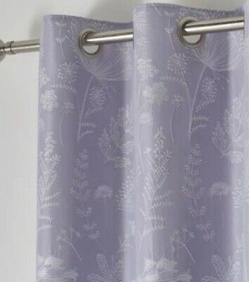 """£54.99 • Buy Cornflower Blackout Lined Eyelet Lavender Lilac Curtains Dunelm Mill 66x54"""""""