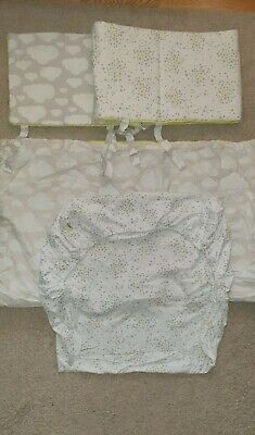 £6 • Buy Cot, Cot Bed Bedding Set, Fitted Sheet, Quilt And Bumper Boy Girl Unisex