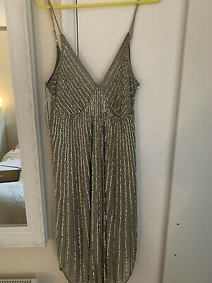 £8 • Buy Sequined Silver Midi Dress