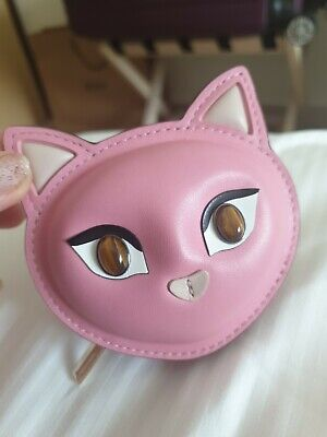 $ CDN92.64 • Buy Kate Spade Meow Cat Leather Coin Zip Around Pouch Small Wallet New £89 Gorgeous