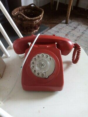 £19.99 • Buy VINTAGE 1970s GPO 746 GNA 73/1 ROTARY DIAL TELEPHONE - RED