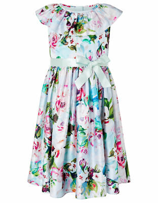 £16.95 • Buy NEW Monsoon Girl's Flower Dress - Age 8 Years -Pale Blue & Pink