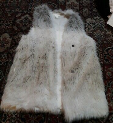 £0.99 • Buy Faux Fur Sleeveless Jacket, Gilet H&M Size Small Hook And Eye Fastener