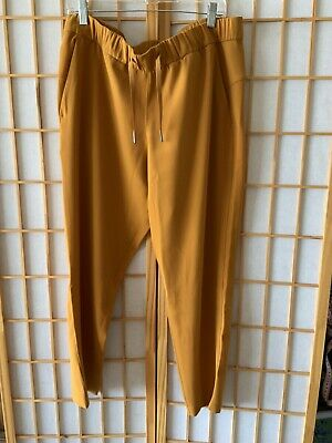 $ CDN61.94 • Buy Lululemon On The Fly 7/8 Pant Woven Womens Fools Gold Yellow Size 12