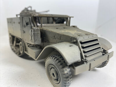 $36.83 • Buy Built 1/32 USARMY M16 AA Halftrack Quad 50Cal.1:35 Weathered!!2 Figs