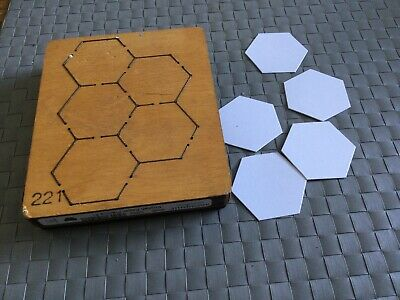 """£15 • Buy Accucut  Wooden  1"""" Thick Die - HEXAGON  Suitable Only For Big Machines"""
