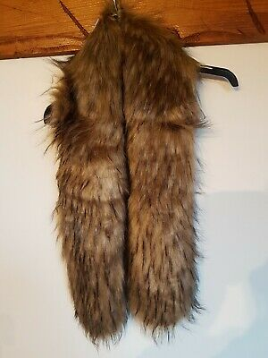 £12.99 • Buy Topshop Faux Fur Collar Scarf 50inches Faux Fox With Hook And Eye Fastening
