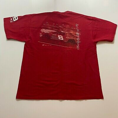 $ CDN23.04 • Buy Vintage Budweiser Dale Jr T-Shirt Size XL Red Double Sided Chase Authentic
