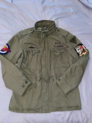 $170.99 • Buy Polo Ralph Lauren Army Green M-65 Skull Patch Military Field Jacket Size XL