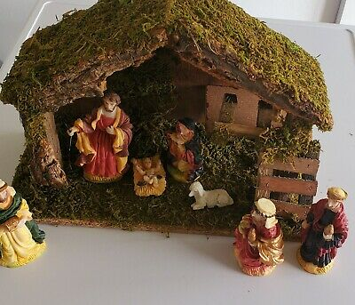 £149 • Buy Natural Driftwood 6 Piece Nativity Set With Stable