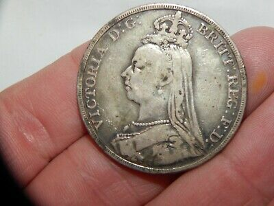 £17.66 • Buy England British Crown Silver Coin Queen Victoria 1892 St George Dragon Slayer