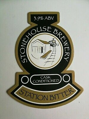 £1.40 • Buy Beer Pump Clip Badge STONEHOUSE Brewery STATION BITTER Real Ale Train Railway