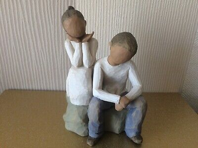 £14 • Buy Willow Tree Figurines - Brother And Sister Demdaco 2007 Susan Lordi