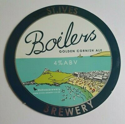£1.40 • Buy Beer Pump Clip Front ST IVES Brewery BOILERS Real Ale Cornwall
