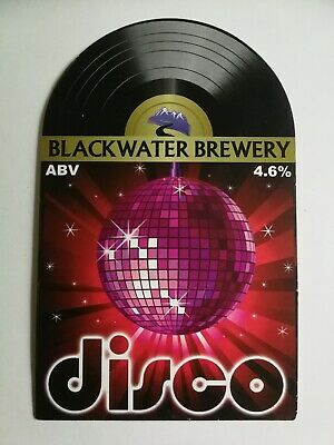 £1.40 • Buy Beer Pump Clip Front BLACKWATER Brewery DISCO Real Ale CLOSED Vinyl Record Theme