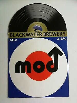 £1.40 • Buy Beer Pump Clip Front BLACKWATER Brewery MOD Real Ale CLOSED Vinyl Record Theme