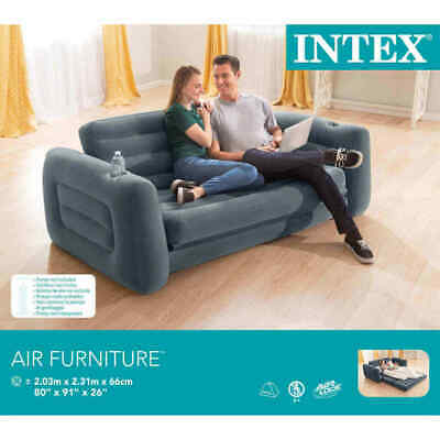 £87.50 • Buy Intex Pull Out Sofa Bed Chair 203cm Dark Grey NEW & SEALED! FAST POST!