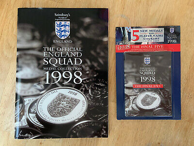 £9.99 • Buy World Cup 1998 - Official England Squad Medal Collection - COMPLETE + Final Five