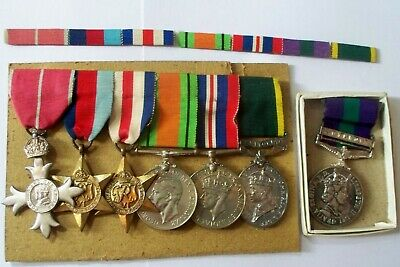 £895 • Buy British Officers MBE WWII Group Of Medals Cyprus  Maj. H.C.Howell Signals D-Day