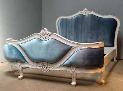 £495 • Buy Rococo 6' Super King Antique White Upholstered French Style Bed New Slight 2nd