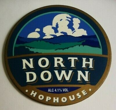 £1.40 • Buy HOPHOUSE Brewery NORTH DOWN Beer Badge Real Ale Pump Clip