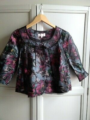 £1.60 • Buy Darling XS Short Swing Coat, Floral Pattern, Lined 50's Style