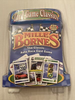 $24.99 • Buy Hasbro MILLE BORNES Classic Auto Race Card Game With Card Tray NEW SEALED 2007