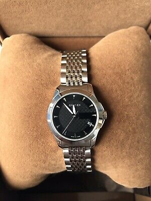 AU450 • Buy Gucci Womens Watch YA126502 G-timeless Stainless Steel, Black Dial