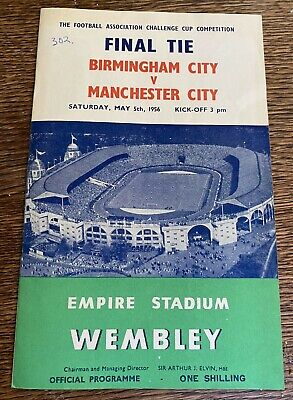 £5.50 • Buy 1956 FA Cup Final Programme, Birmingham City V Manchester City GOOD CONDITION