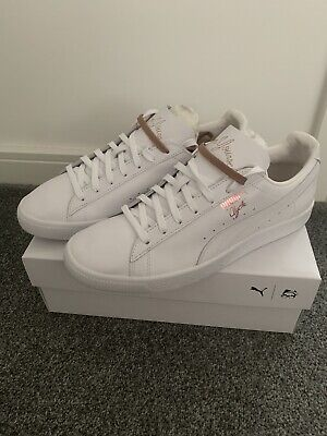 £155 • Buy PUMA Clyde X EMORY JONES Mens White Leather Lace Up Sneakers UK Size 10