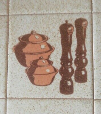 £15.99 • Buy H&R Johnson Cristal Ceramic Glazed FEATURE Tiles X9 Kitchen Wall Feature 33cm Sq