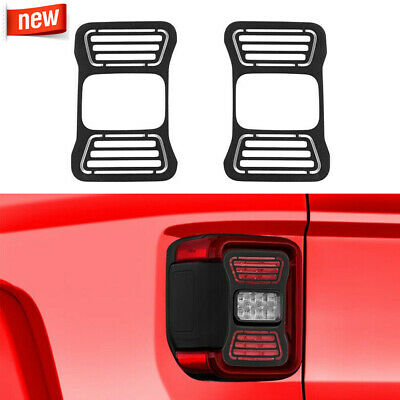 $24.99 • Buy Rear Tail Light Taillight LED Lamp Cover Guards Trim For Jeep Gladiator JT 2020+