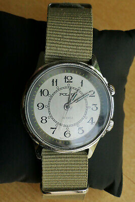 £59.95 • Buy Poljot Classic VintageWatch USSR 18 Jewels – Good Condition With Working Alarm
