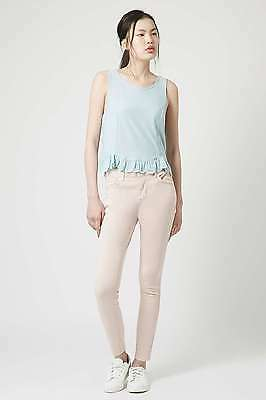 £24.99 • Buy BNWT TopShop MOTO Blush Pink Skinny Leigh Jeans W25 L30 Super Soft Ankle Grazer