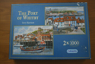 £4 • Buy THE PORT OF WHITBY By Terry Harrison. 2 X 1000 Piece Jigsaw Puzzles. Complete