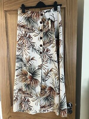 £1.40 • Buy Ladies Size 12 Primark Long Skirt Tropical Palm Leaf Print Brand New With Tag