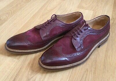 £32.99 • Buy CHARLES TYRWHITT Burgundy Brogues Mens Leather/suede Shoes Size UK 12 /EU 46
